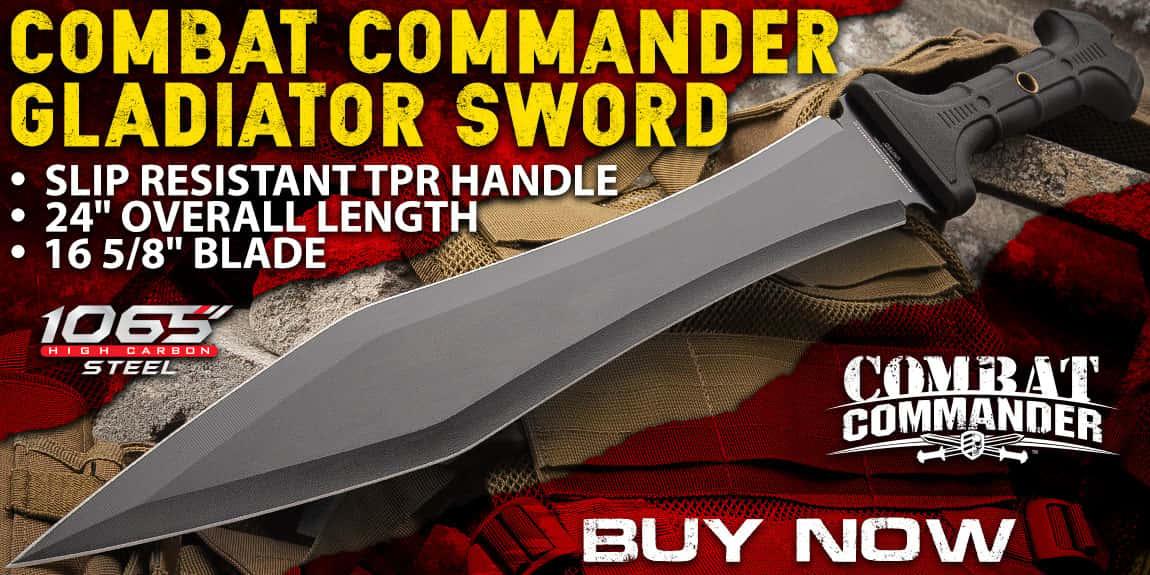 United Cutlery Combat Commander Full-Tang Gladiator Sword