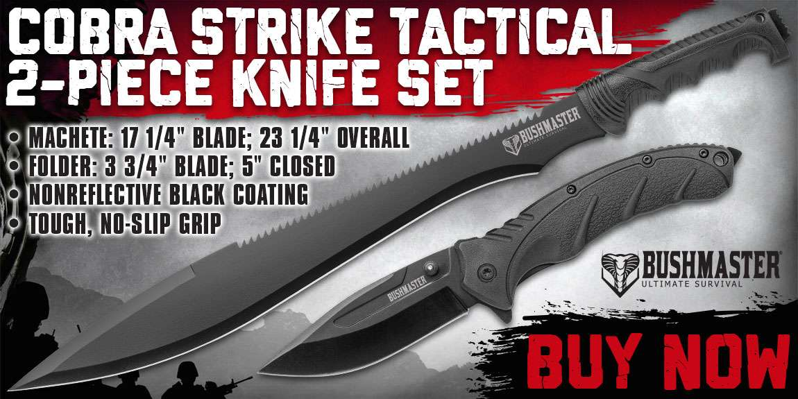 Bushmaster Cobra Strike Tactical Knife Set