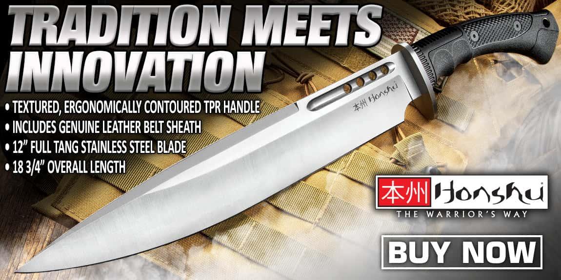 Honshu Boshin Toothpick Knife With Sheath