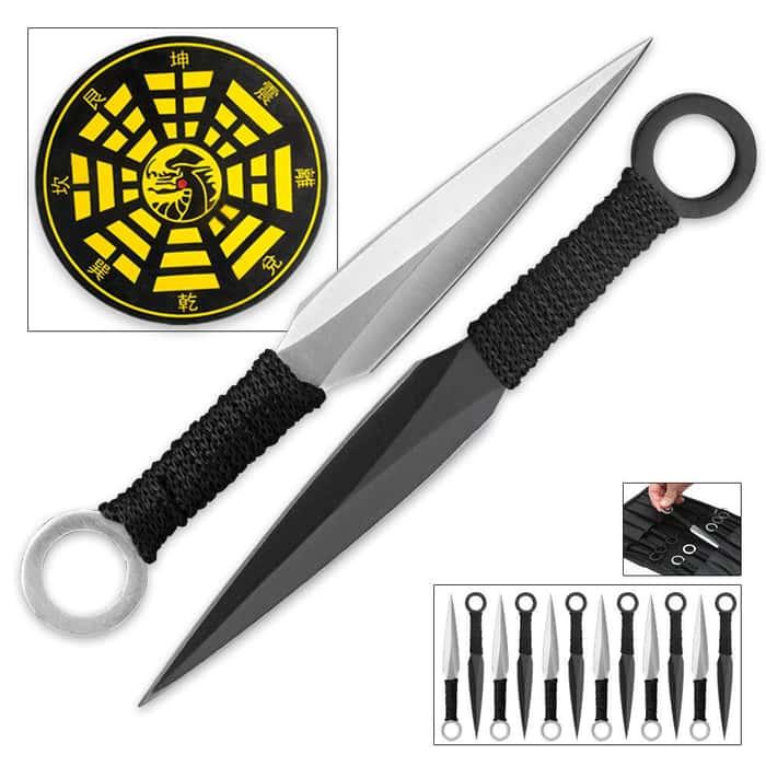 Bushido Master Throwing Knife Set & Target