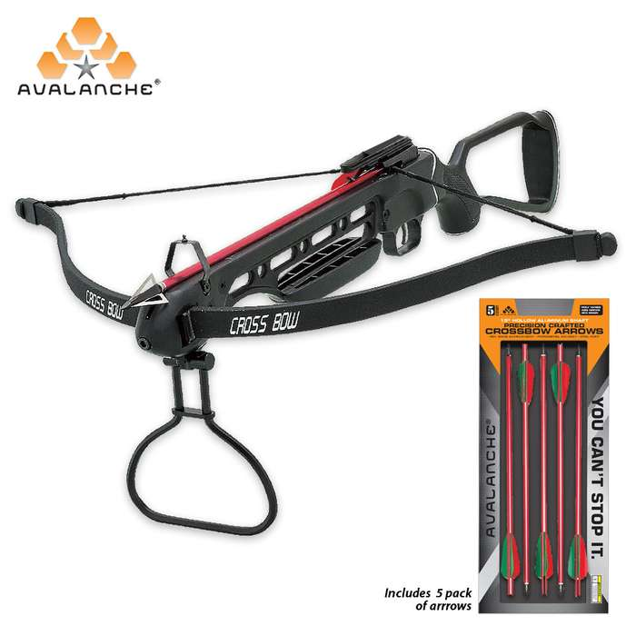 Avalanche Crossbow Hunting Package - Includes 150-lb Crossbow and Aluminum Arrow 5-Pack