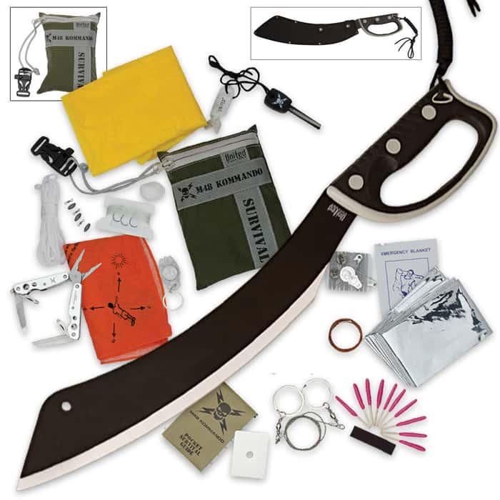 Panga Machete with Free 24-item Survival Kit