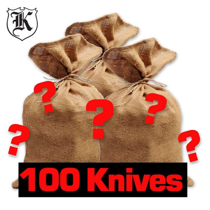 100 Throwing Knives Surprise Bag