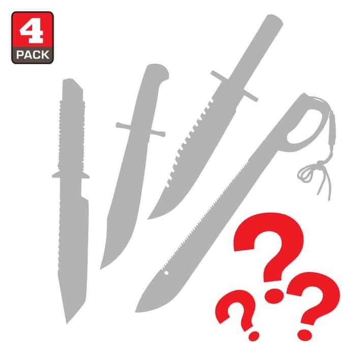 Bowies & Machetes Scratch & Dent Mystery Bag Four Pieces
