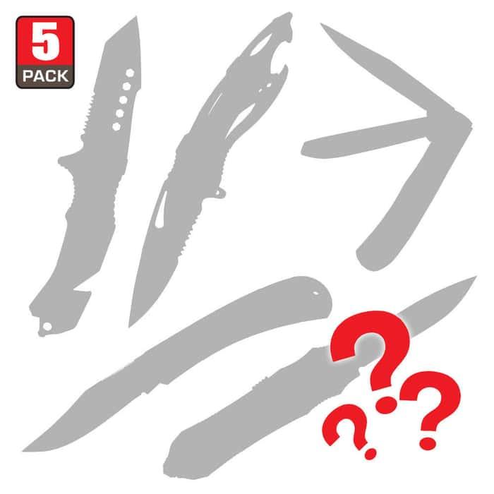 Pocket Knives Scratch & Dent Mystery Bag Five Pieces