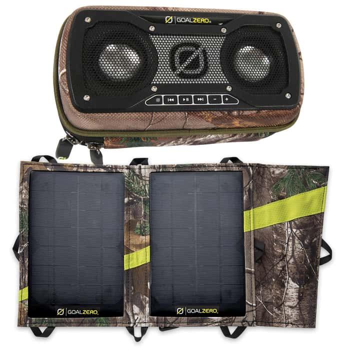 Goal Zero Realtree Camo Solar Charger Panel-Speaker Kit
