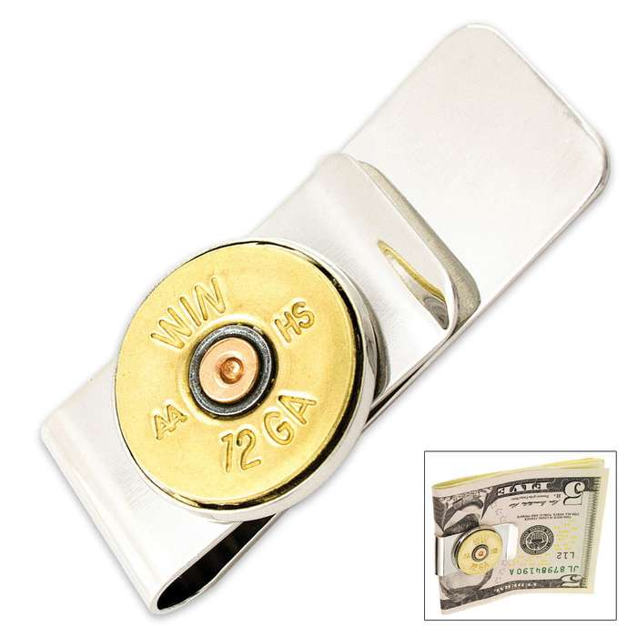12 Guage Bullet Money Clip