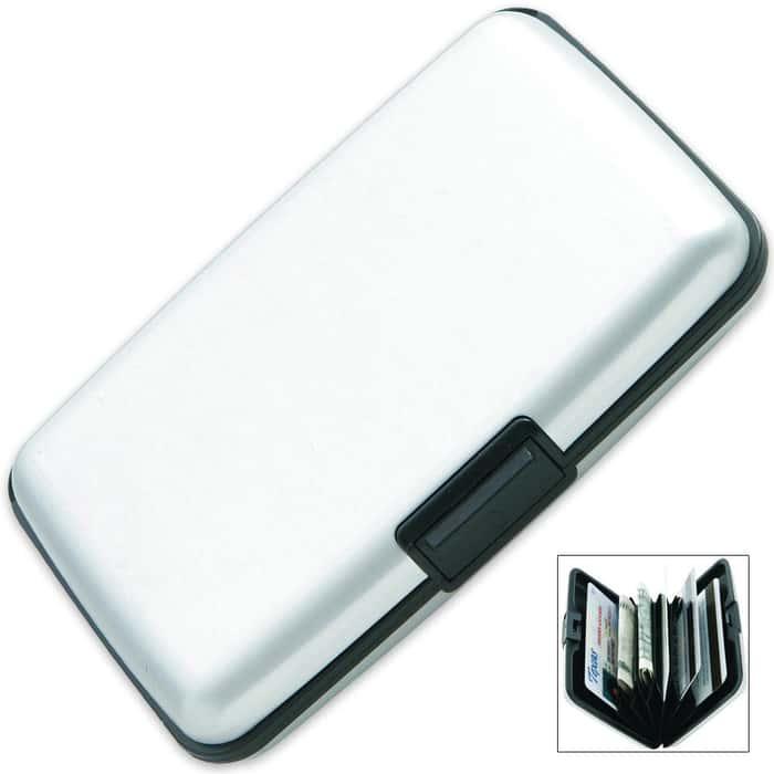 RFID Security Wallet Silver