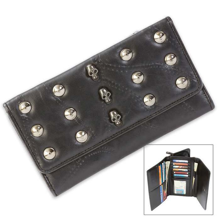 Genuine Lambskin Leather Bikers Wallet