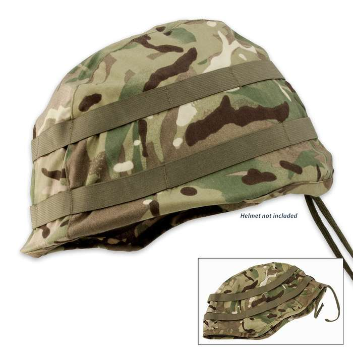 British Military Surplus Used Helmet Cover Camouflage