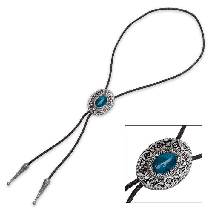 Turquoise Native American Bolo Tie
