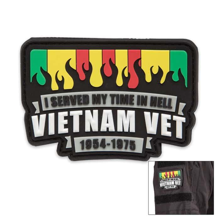 Vietnam Veteran PVC Patch With Velcro Backing