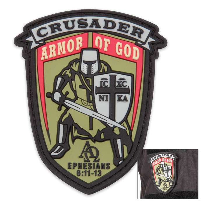 Crusader AOG PVC Patch With Velcro Backing