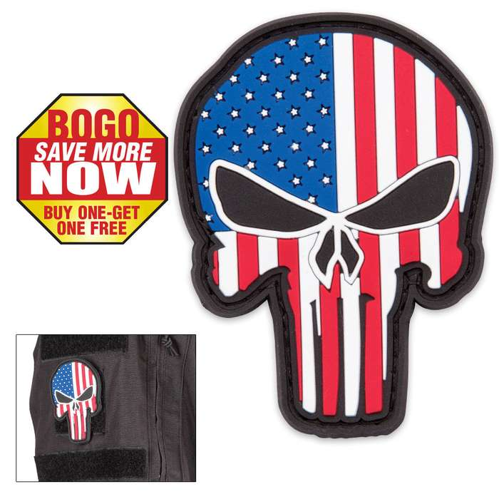 Morale Patriotic Punisher Patch BOGO