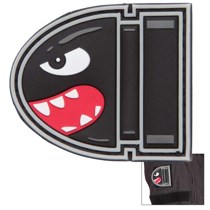 Biting Bullet PVC Patch With Velcro Backing