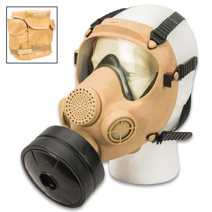 Tan mp5 polish gas mask with filter