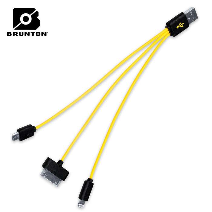Brunton Three In One Cable Charger USB