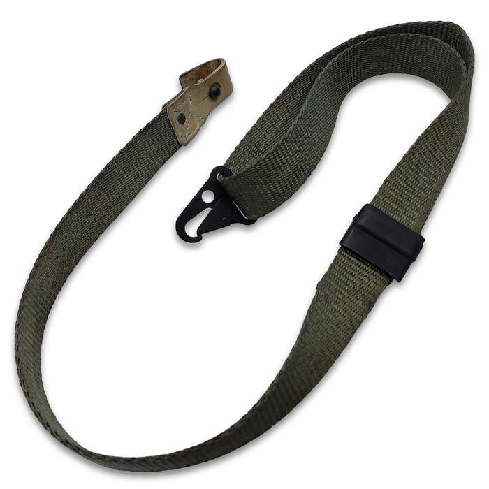 """Spanish CETME Rifle Sling - Genuine Vintage Military Collectible, Canvas Webbing Construction, Metal Attachments, Adjustable - Length 46 1/2"""""""