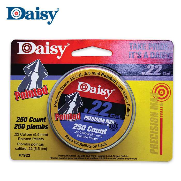 Daisy .22 Cal. Pointed Pellets 250 Tin