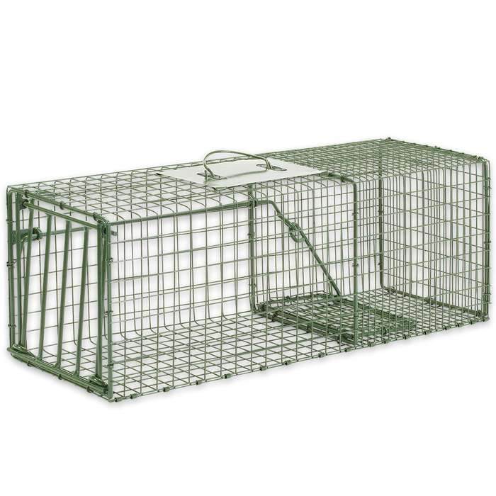 "Duke Heavy Duty Medium Animal Non-Lethal Cage Trap - Rabbits - 26"" x 9"" x 9"""