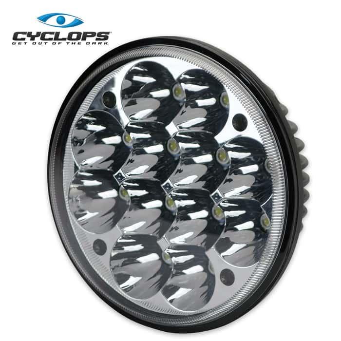 Cyclops Bottom Mount Round Truck Light - 2700 Lumens