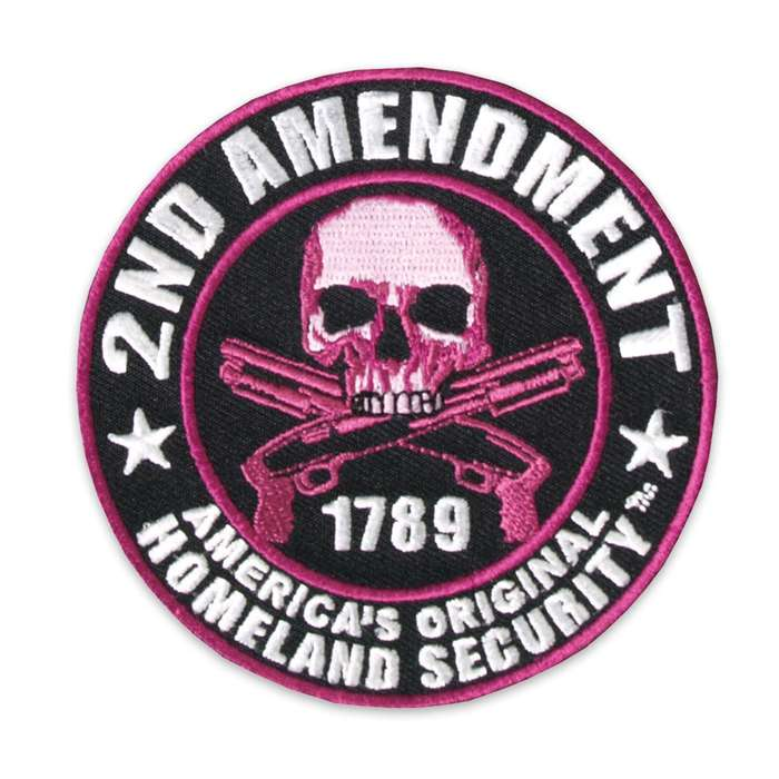 Second Amendment 1789 Homeland Security Skull Morale Patch
