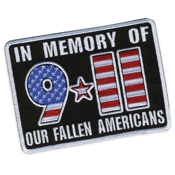 911 September 11 Memorial Morale Patch