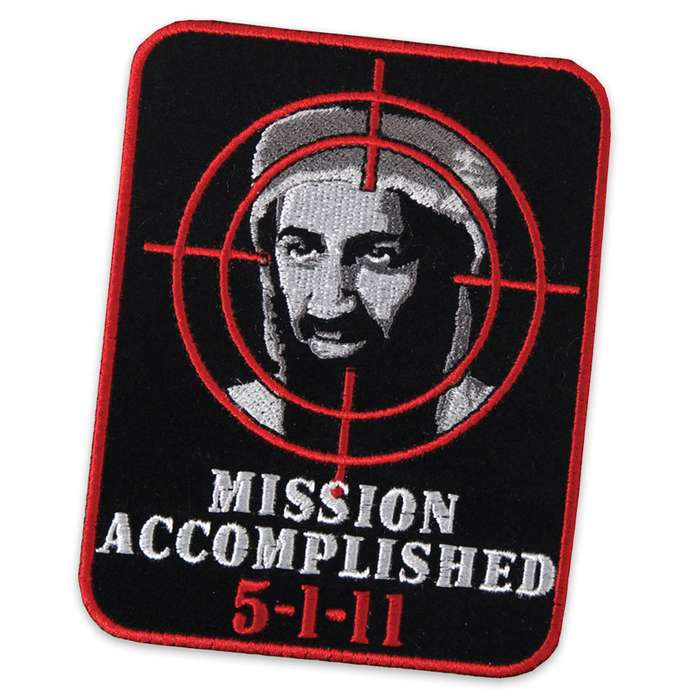 Mission Accomplished 5-1-11 Bin Laden Morale Patch