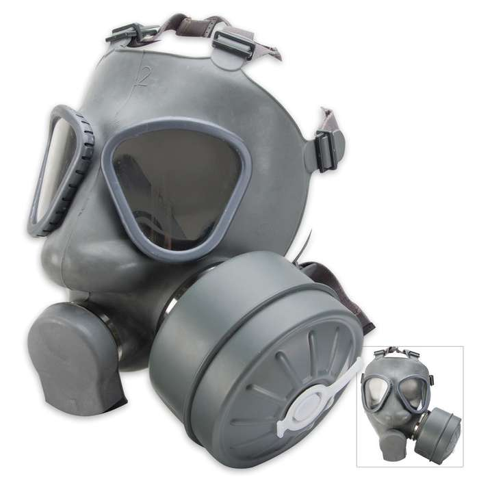 Finnish Military Gas Mask with Filter
