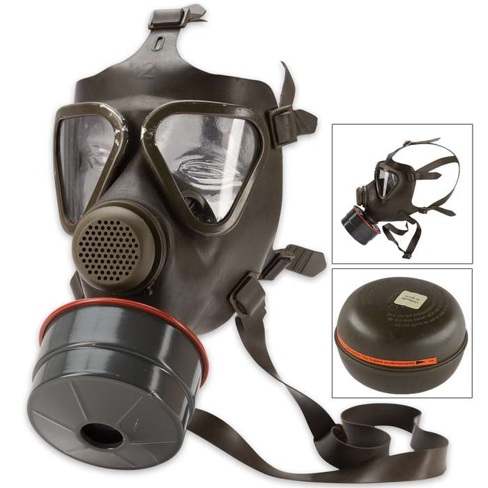 German M65 Gas Mask With Filter - Like-New