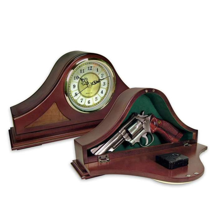 Gun Concealment Clock For Mantle or Desk