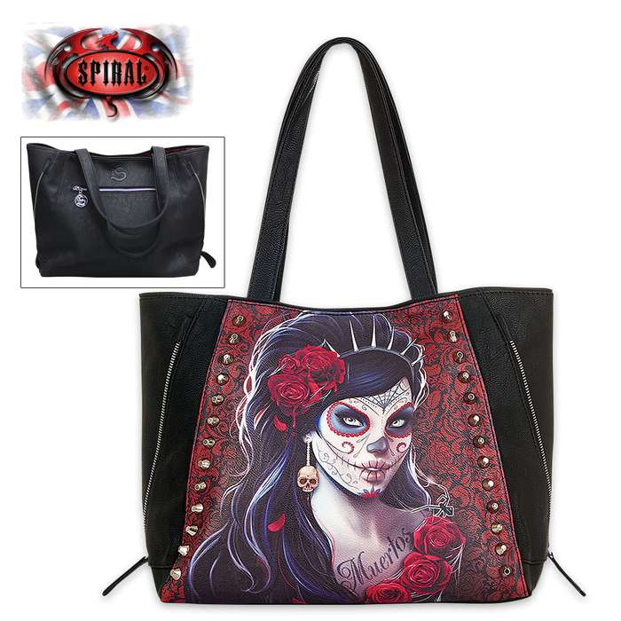 Day Of The Dead Studded Tote Bag