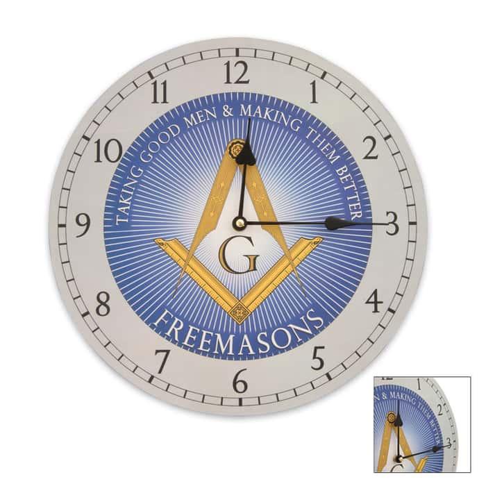 Freemasons Wall Clock