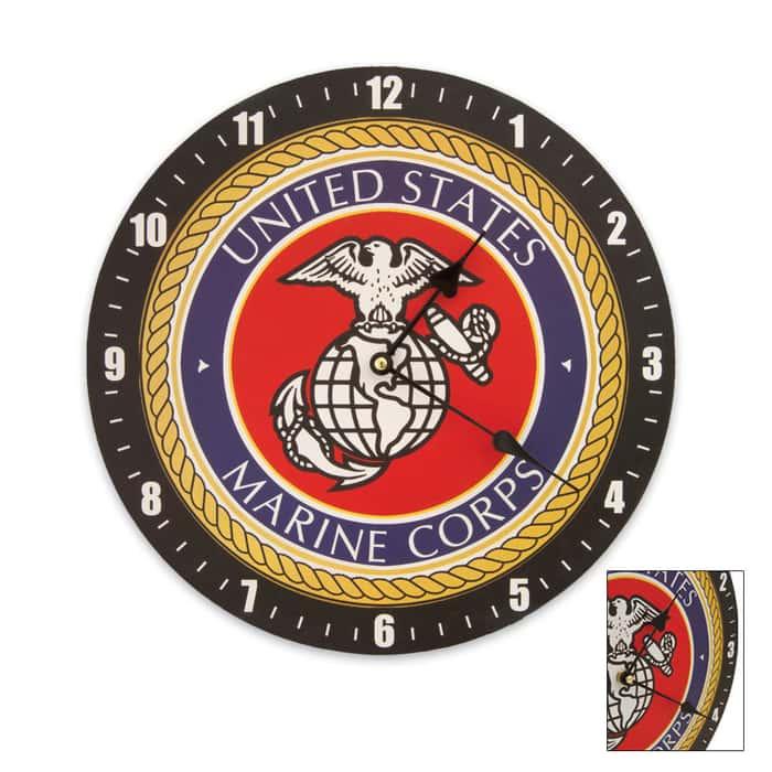 U.S.M.C. Wall Clock