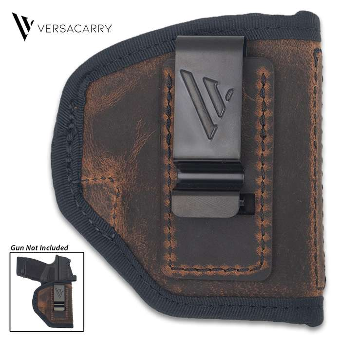 The holster is made of premium vegetable-tanned water buffalo leather with industrial grade, bonded nylon thread