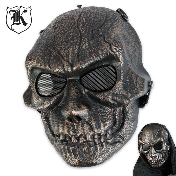 ABS Bronze Goblin Skeletal Facemask Cinnamon Bronze