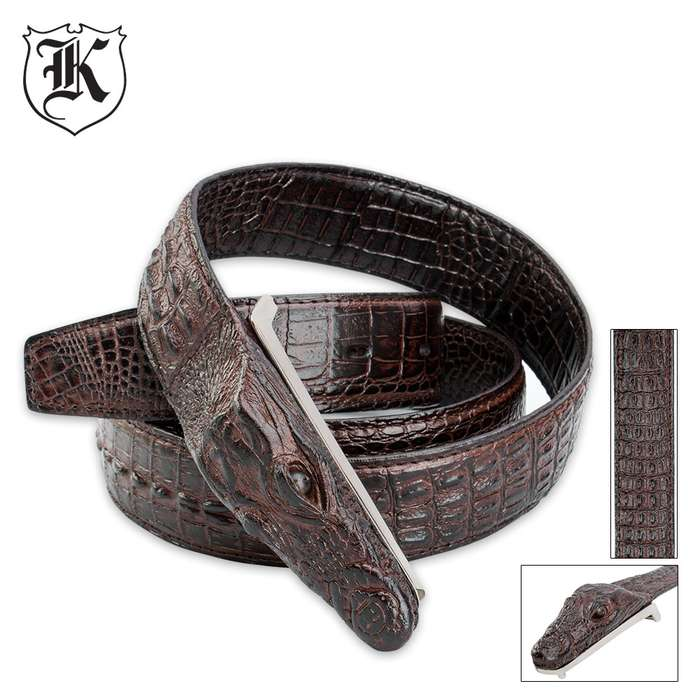 Gotcha Crocodile Belt - Brown