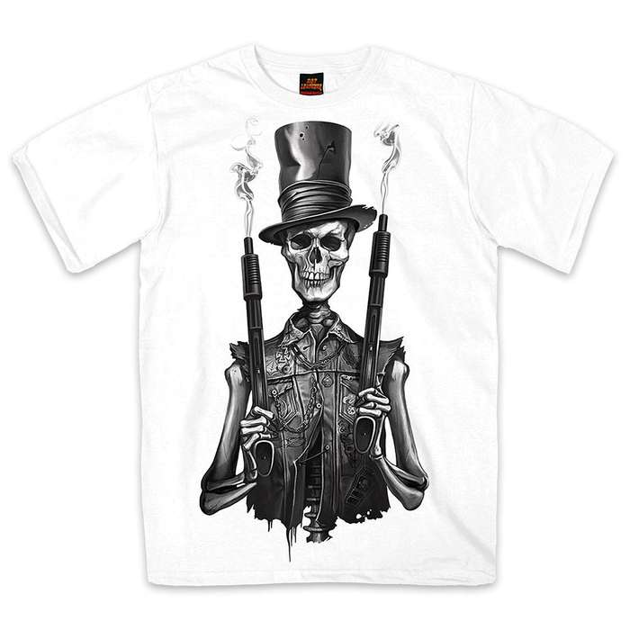 Skeleton Stovepipe Shotguns T-Shirt