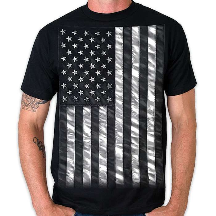 Jumbo Black and White Flag T-Shirt