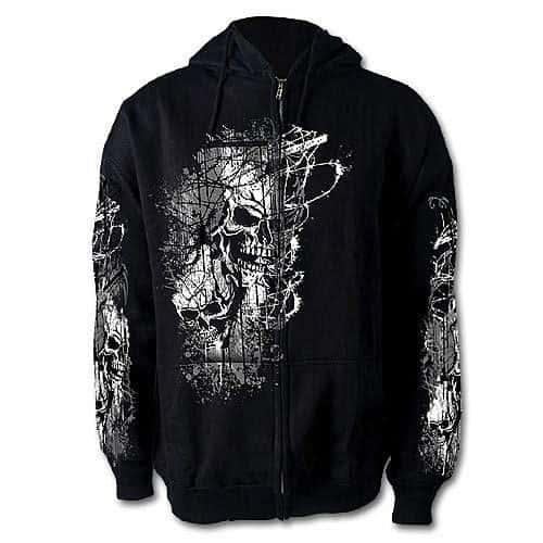 Thrasher Skull Zip Up Hoodie