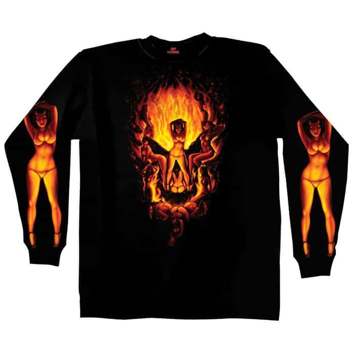 Skull Illusion Long Sleeve Shirt