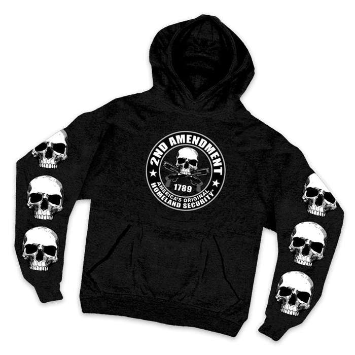 Second Amendment Homeland Security Skulls Hoodie