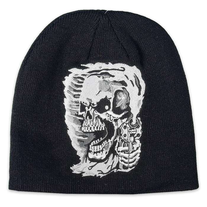 Assassin Skull Knit Beanie Hat