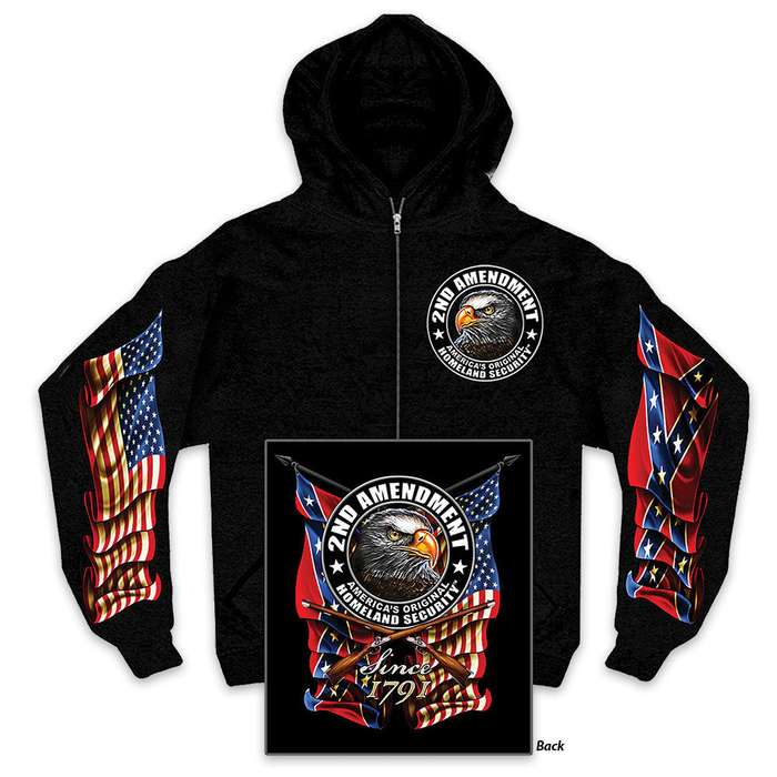Second Amendment Homeland Security Zipper Hoodie