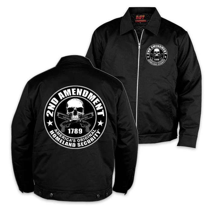 Second Amendment Mechanic Jacket Black