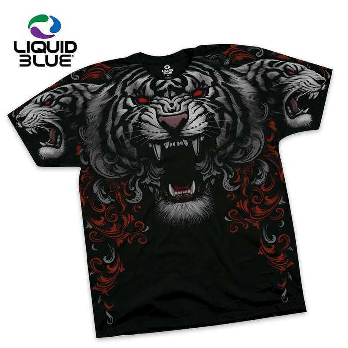 Three Roaring Tigers Short Sleeve T-Shirt