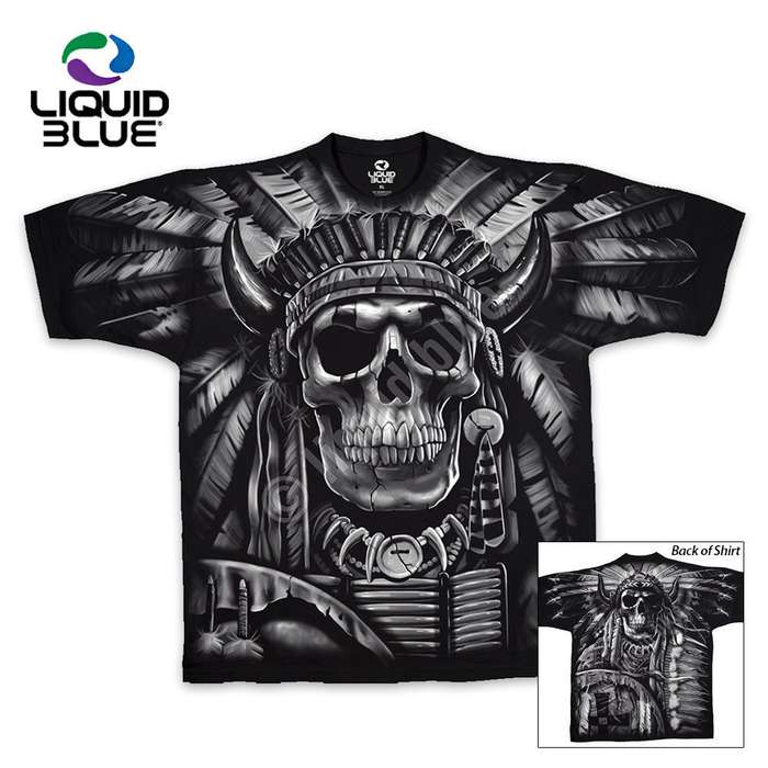 Indian Skull Short Sleeve T-shirt