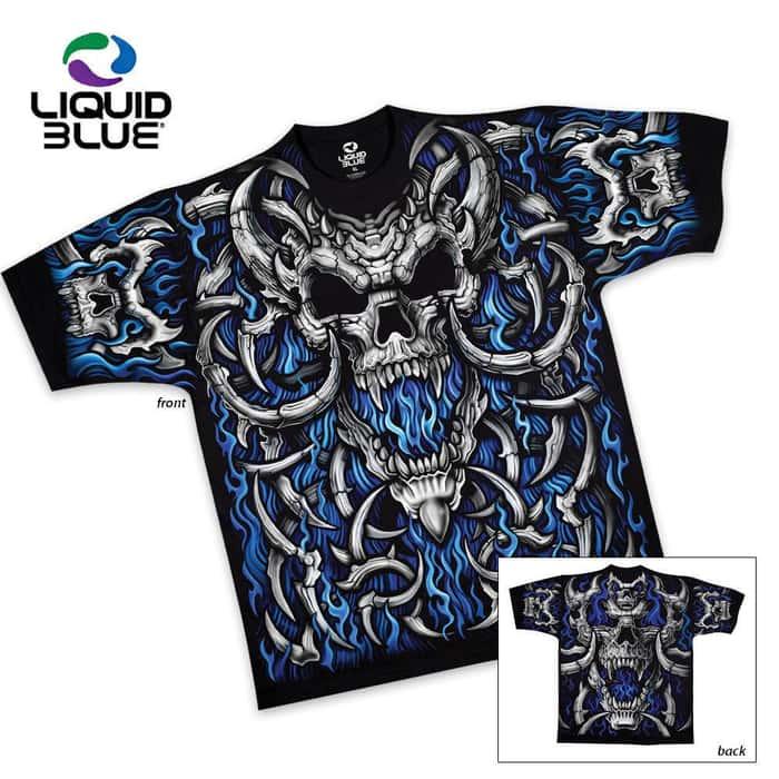 Blue Flame Short Sleeve T-Shirt