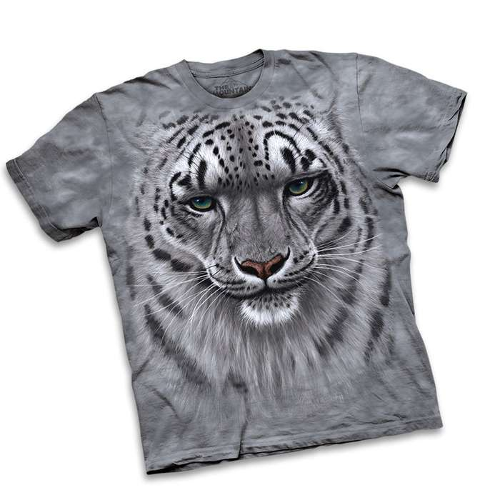 Snow Leopard Short Sleeve Shirt