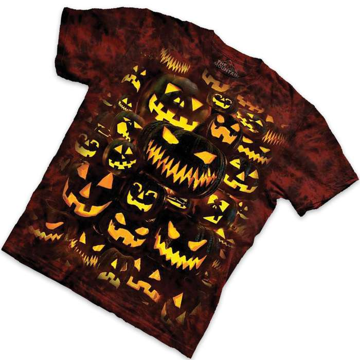 Jack-O-Lantern Wall Short Sleeve T-Shirt